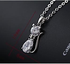 Ciondolo gatto selvatico versione coreana della collana di zircone della catena clavicola femminile semplice collana Sen