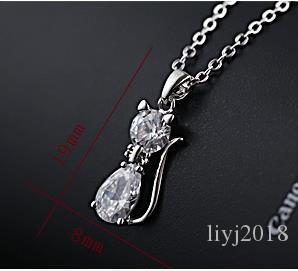 Colgante de gato salvaje Versión coreana del sencillo collar Sen de mujer collar de circón de clavícula femenina