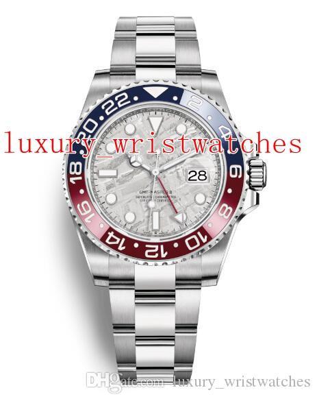 2019 последняя версия наручные часы GMT Batman нержавеющая сталь 40 мм 126719 126719BLRO MOP 2813 автоматическая механическая дата мужские часы Часы