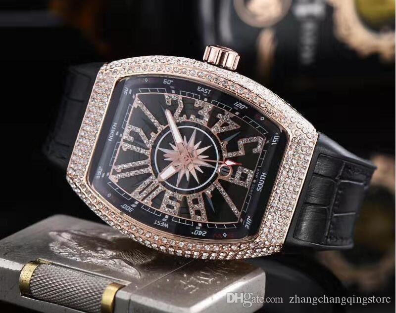 남성 최고의 선물을위한 최고 브랜드 남성 여성 다이아몬드 시계 럭셔리 디자이너 자동 정품 가죽 스트랩 다이아몬드 다이얼 daydate 달의 위상 시계