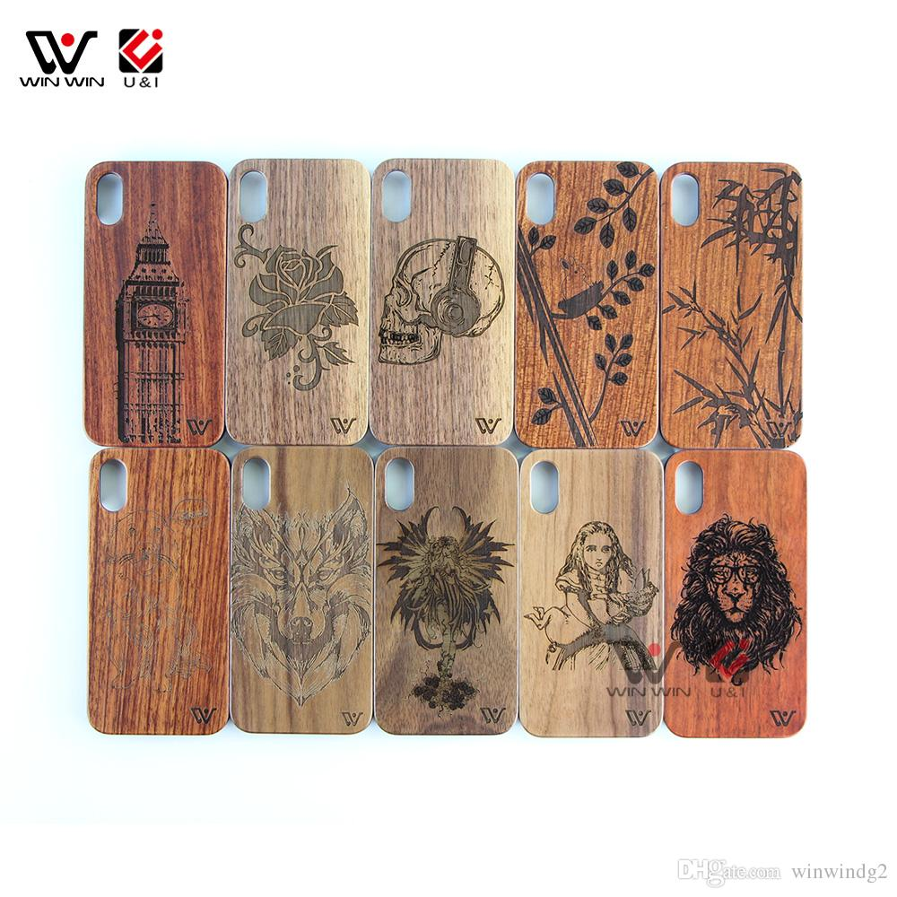 In Stock Wholesale Cheap Wooden Cell Mobile Phone Cases Cover For iPhone 6 7 8 X XI XR XS Max