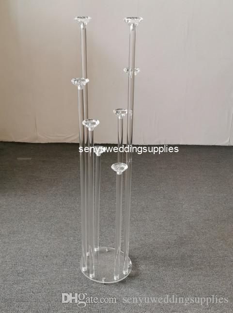 new elegant high crystal wedding aisle pillar for weddings walkway decor senyu0188