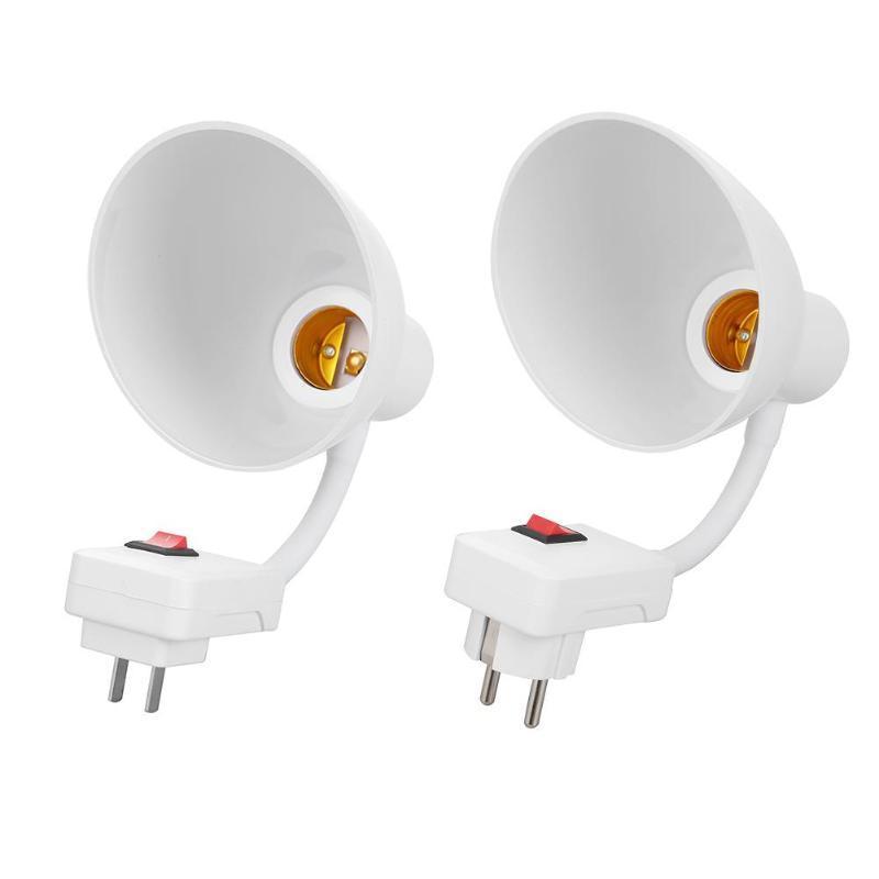 18 28 38 48 58cm LED E27 Flexible bombilla Base Convertidores E27 a E27 zócalo del enchufe de extensión de pared cable adaptador Titular de la lámpara