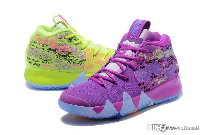 2019 горячая продажа Irving 4 Мужская обувь для баскетбола дизайнерская обувь многоцветная Kyries IV Открытый случайные спортивные кроссовки размер EUR40-46 RRMALL4