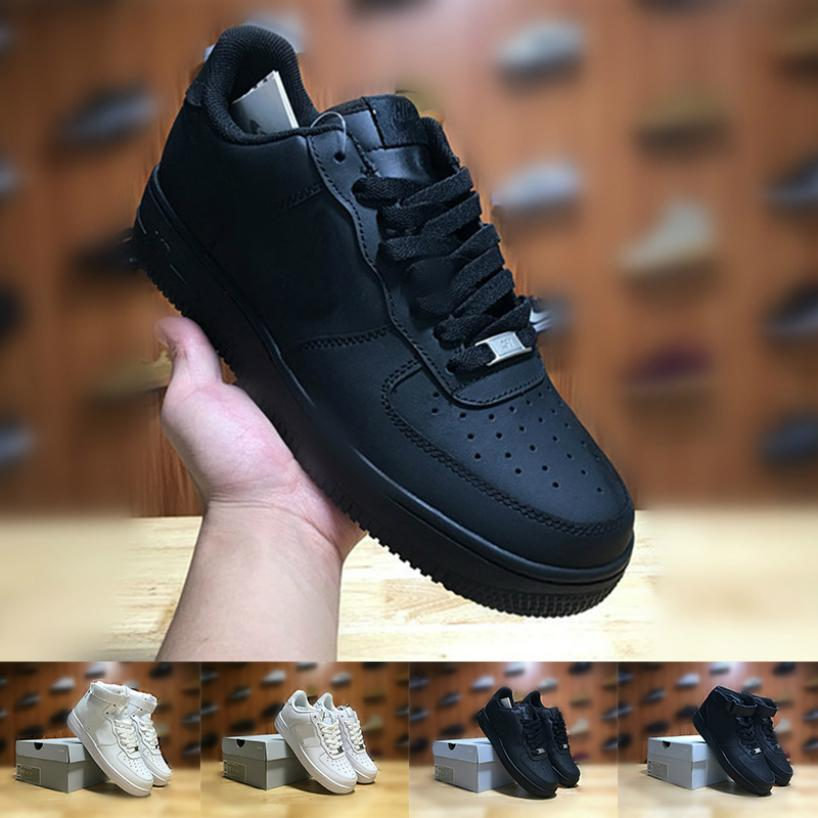 2019 Fábrica Venta barata Classic Forced Hombres Mujeres Mid Low Top Zapatos casuales One 1 Dunk Luxury Mens Chaussures Skateboarding Designer Shoes37