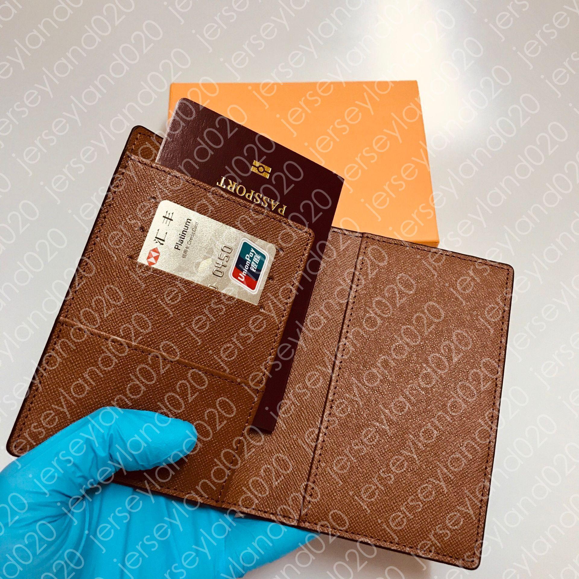 جواز السفر إمرأة للجنسين الأزياء حماية جواز السفر حالة العصرية حامل بطاقة الائتمان رجل محفظة براون أيقونة قماش couverture passeport