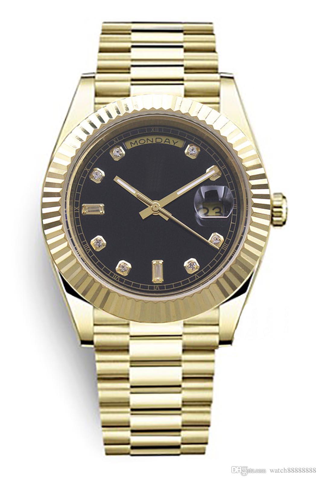 Nuovo orologio da uomo di lusso S105, calendario della settimana m228398tbr, copricapo, cassa in acciaio inossidabile dorato, bordo triangolare, diamante, numeri romani
