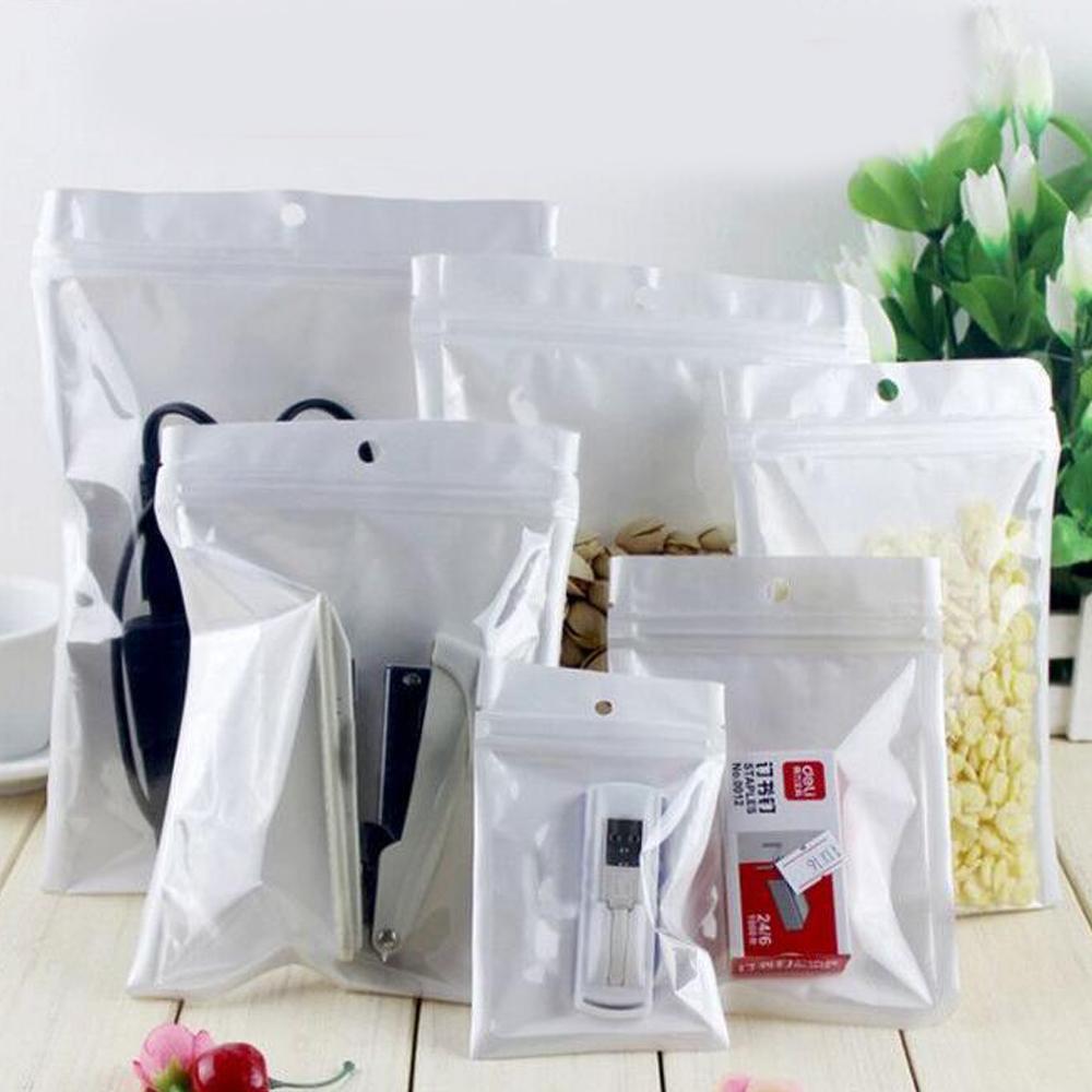 Clear + White Smell Proof Mylar Plastic Zip Lock Bags Runtz Packaging OPP Bulk Gift Packages PVC Bag Self Sealing Baggies for Earpods S