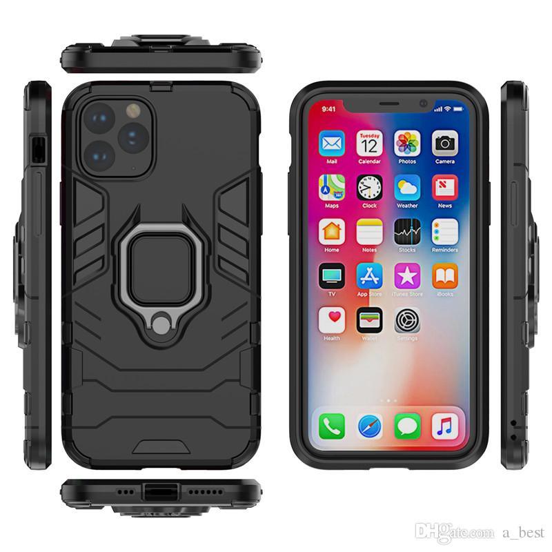 Anneau Porte-Phone Case pour iPhone 11 Pro Max XS XR 8 7 plus Iron Man Armure antichocs Support Couverture Samsung note10 plus