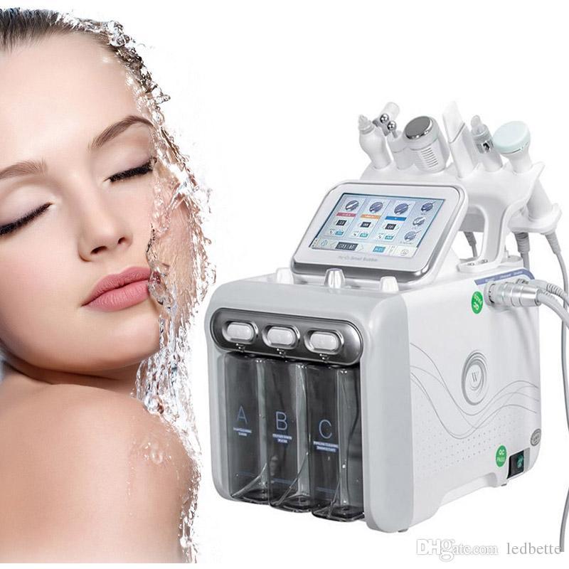 Multifunción Hydra dermoabrasión RF Bio-lifting facial Spa Máquina de Aqua cleaningl facial agua máquina peladora dermoabrasión