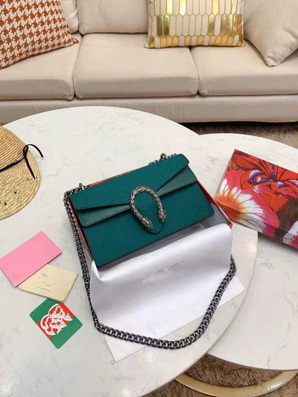 Dionysiaque Paquet chaîne féminine sac à main en cuir véritable Incliné épaule Sacs Femme mode Bucket embosser Haute Qualité Paquet