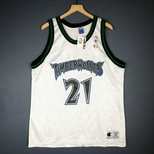 Cheap 100% Stitched Kevin Garnett Vintage Champion Wolves Jersey Size XS-5XL Mens Throwbacks Top Basketball jerseys