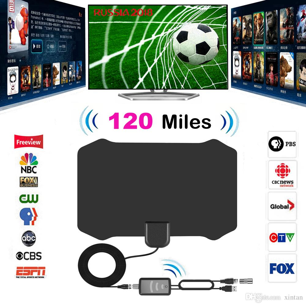 120 Miles Digital HDTV Indoor TV Antenna with Amplifier Signal TV Radius Surf Fox Antena Aerial