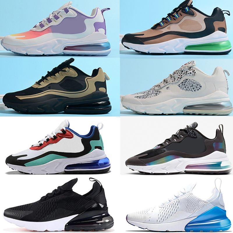 Nike air max 270 React airmax 270 V2 Running Shoes moda mens koşu ayakkabıları erkekler tepki eğitmen nefes spor ayakkabı boyutu 36-45