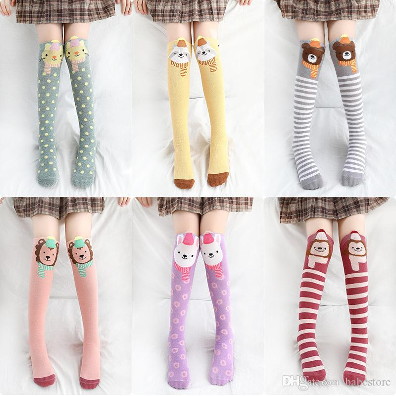 Unisex Baby Girls Boys Kids Toddler Socks Knee High Socks Animal Baby Stockings