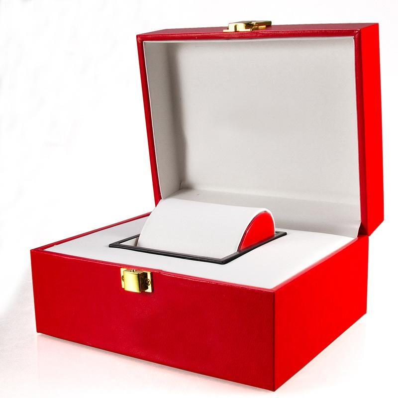 traitement à la mode noble boîte rouge bracelet collier de bijoux boîte à bijoux boîte de rangement montre en cuir PU personnalisé