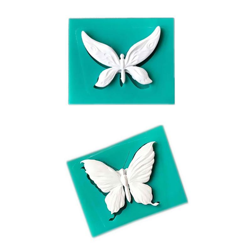 Neue Schmetterlings-Fondant-Kuchen-Silikon-Form-Schokoladen-Kekse Moulds Süßigkeit Kochen Backen Kuchen Hochzeit Dekorieren Werkzeuge
