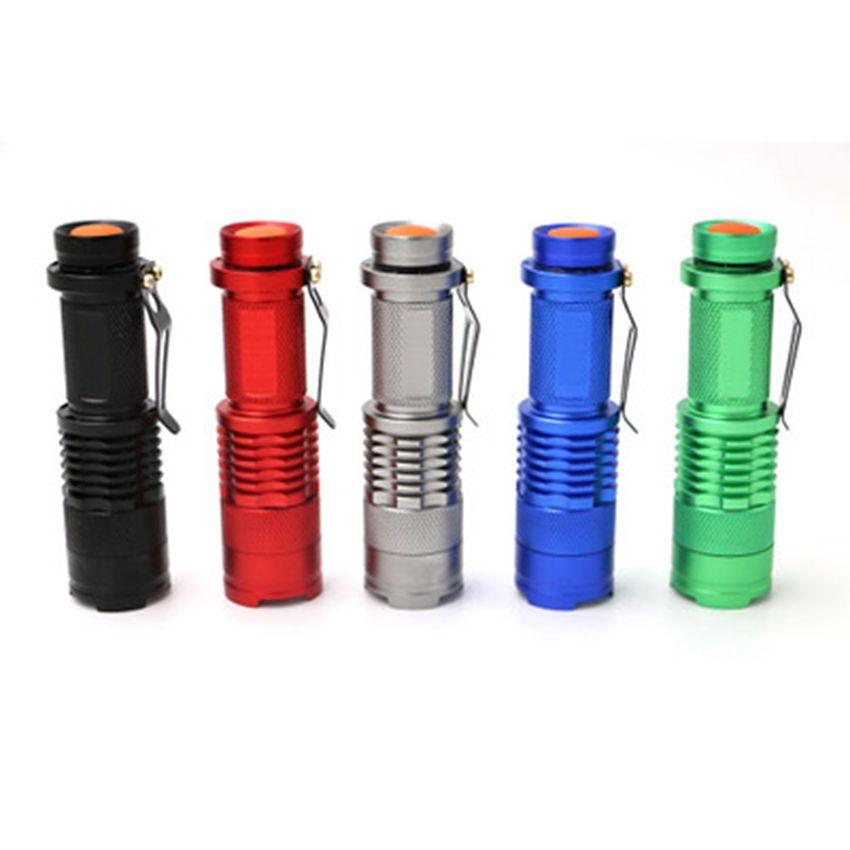 Blitzlicht 7W 600LM Q5 LED Außen kampierende Taschenlampe justierbare Fokus-Summen wasserdicht Taschenlampen ZZA244-1