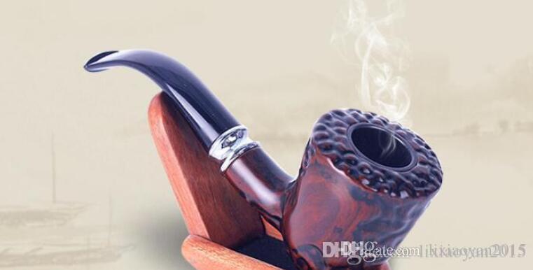 Новый бутик смолы имитация трубы из красного дерева вырезаны вогнутой выпуклой поверхностью трубы табака