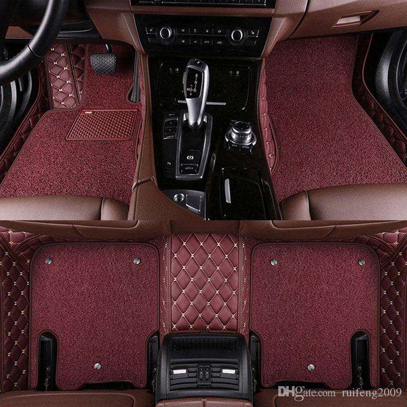 Tapis de sol voiture pour Tesla Modèle S Modèle X Fit Alfa Romeo Giulia Stelvio Stelvio tous les tapis de voiture de coiffure sur mesure Accessoires automobiles