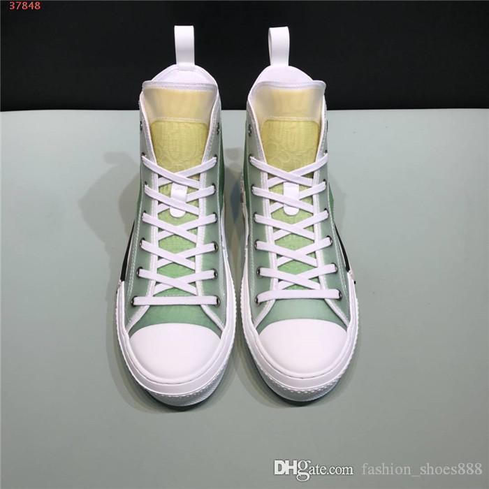 Pour hommes et femmes de lettres de baskets couleur gradient casual classique journal imprimer haut haut lacées appartements sneaker occasionnels avec boîte d'origine