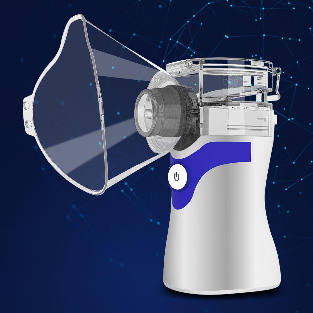 Taşınabilir Kompresör Nebulizatör İlaç Mini El Ev Çocuk Çocuk Buharlama Cihaz inhaler Kiti Şarj Sessiz Işık