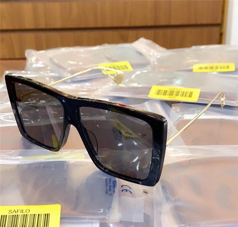 Rectangular con gafas de sol de gran tamaño de oro gafas de sol de gran tamaño 0434 gris moda negro gafas de sol tonos caja mujer vnqox