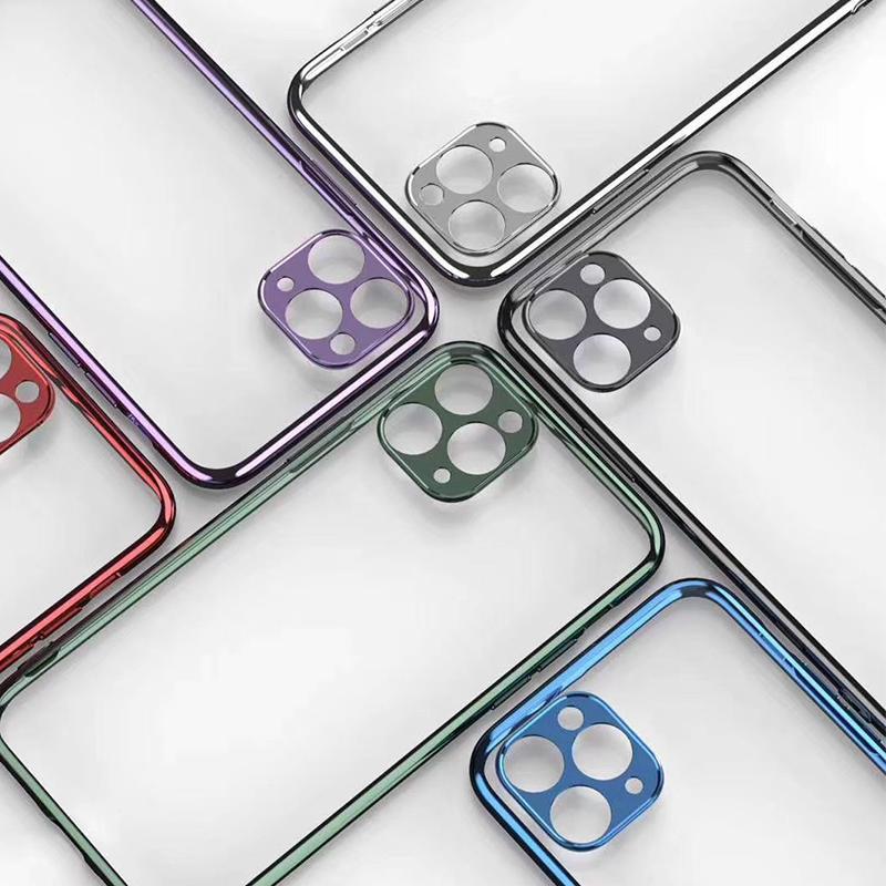الفاخرة 3d تصفيح حالة الهاتف آيفون 11 برو ماكس xs ماكس xr xs x 8 7 زائد كاميرا حماية سيليكون غطاء لينة