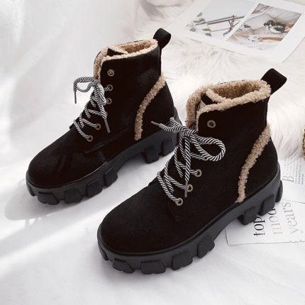 Snow Boots donne 2019 scarpe autunno delle donne Martin stivali brevi donne inverno più velluto di cotone scarpe