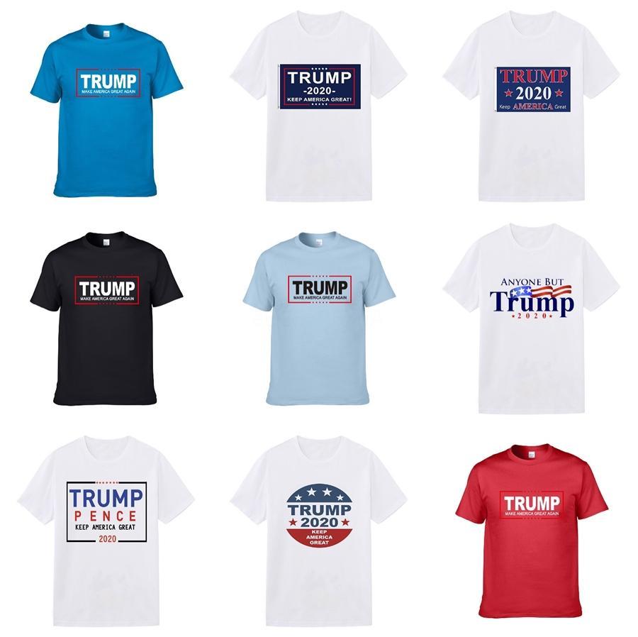 2020 Erkekler Rasgele Kenz Tee Gömlek Hip Hop Moda Tasarımcısı Tişörtlü Unisex Pamuk Kısa Kollu Tee Gömlek Boş Trump Tişört Giyim # 811