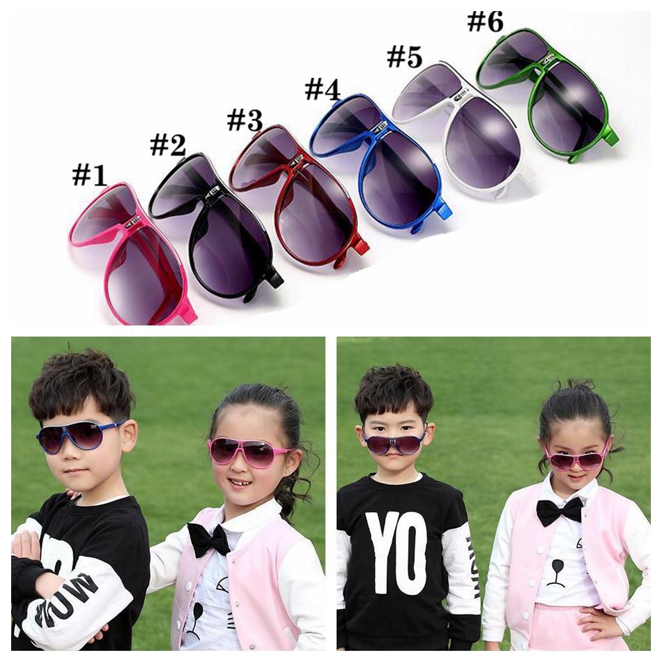 النظارات الشمسية الاطفال 6 ألوان الإطار كامل زجاج أحد الرياضة في الهواء الطلق نظارات UV400 النظارات في الهواء الطلق الصيف شاطئ نظارات الموضة OOA6930