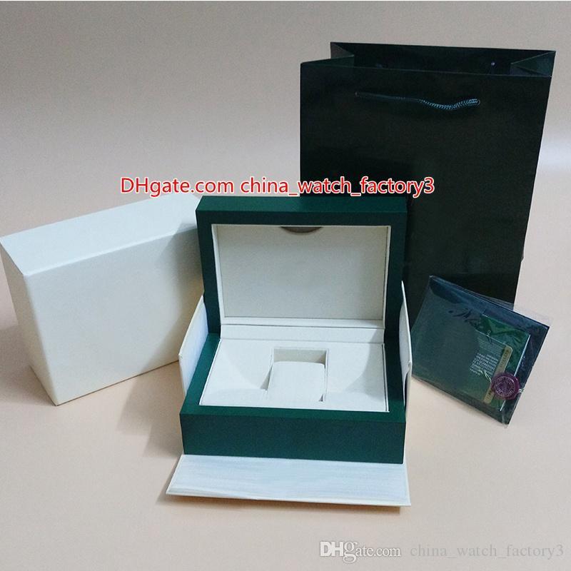 Superiore di vendita calda Perpetual verde di vigilanza di originale Papers borsa scatole di carta di 0.8kg Per 116610 116660 116710 116500 126710 Orologi