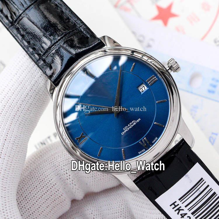 Cheap New 424.13.40.20.03.001 Japan Miyota Automatic Mens Watch Blue Dial Steel Case Leather Strap Business Watches Hello_Watch 8 Color