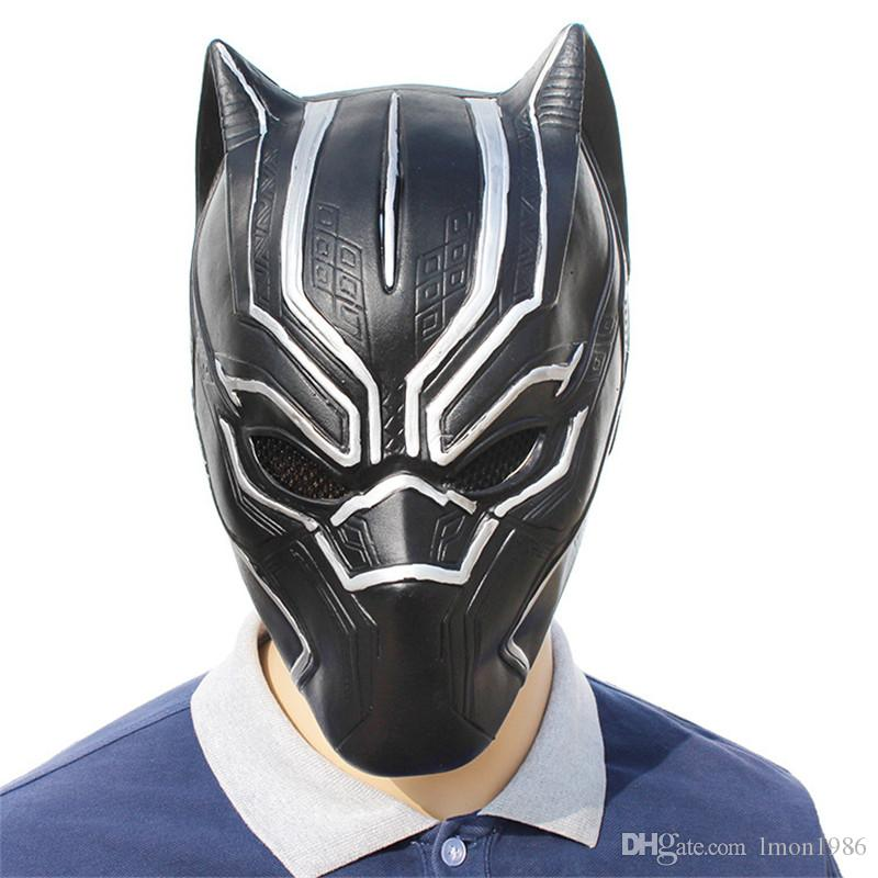Hot Sale Film Black Panther Masks Movie Cosplay Four Cosplay Men's Latex Party Mask Masquerade For Halloween Christmas Decoration