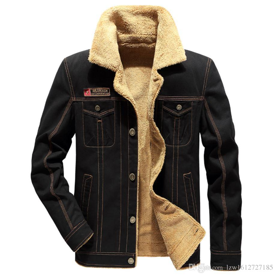 Autumn and Winter 2018 New Kind of Men's Lamb Down Water-Washed Jacket Large Size Warm Coat
