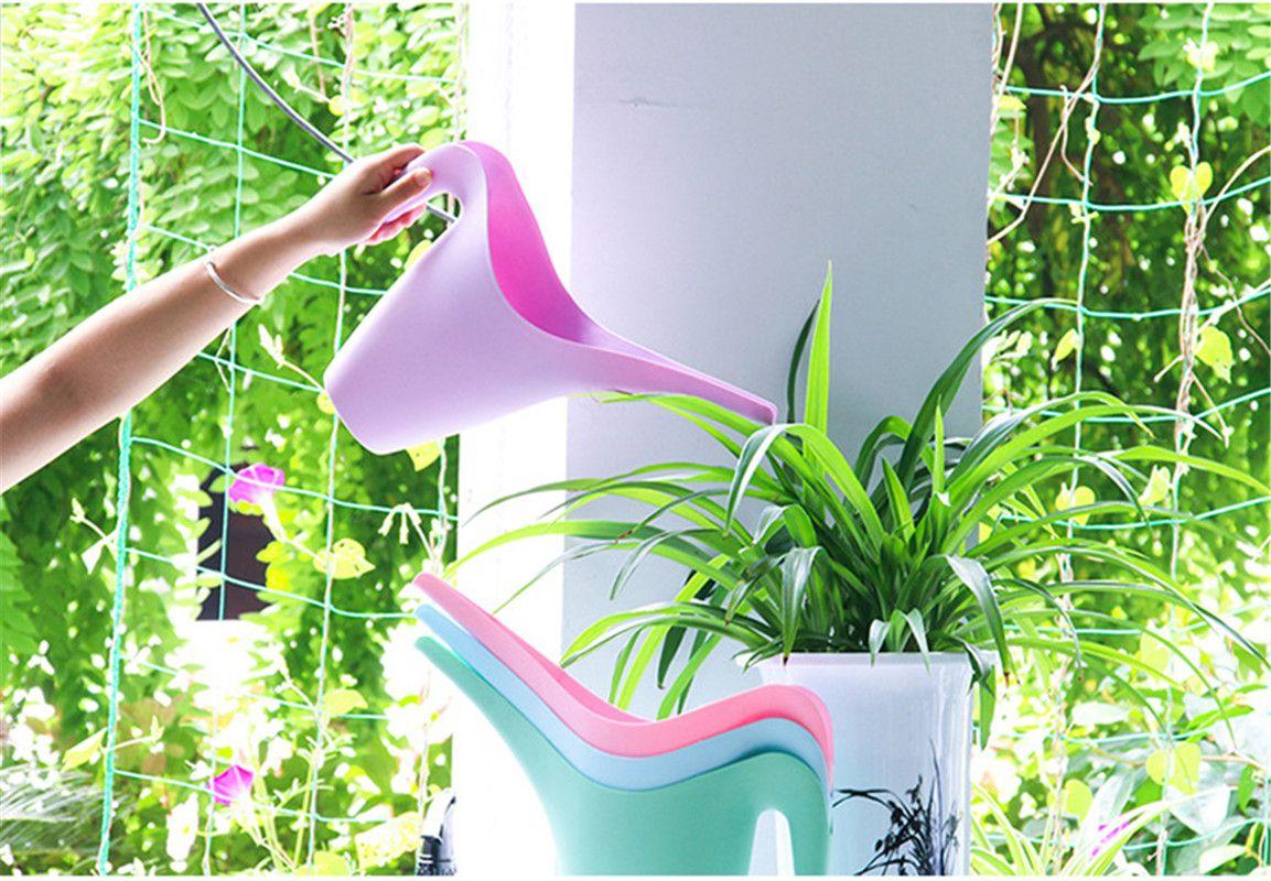 Пластиковая Лейка 1.8 л 1л легко заливается Лейка с длинным носиком для бонсай в помещении и на открытом воздухе смешанный цвет для оптовой продажи