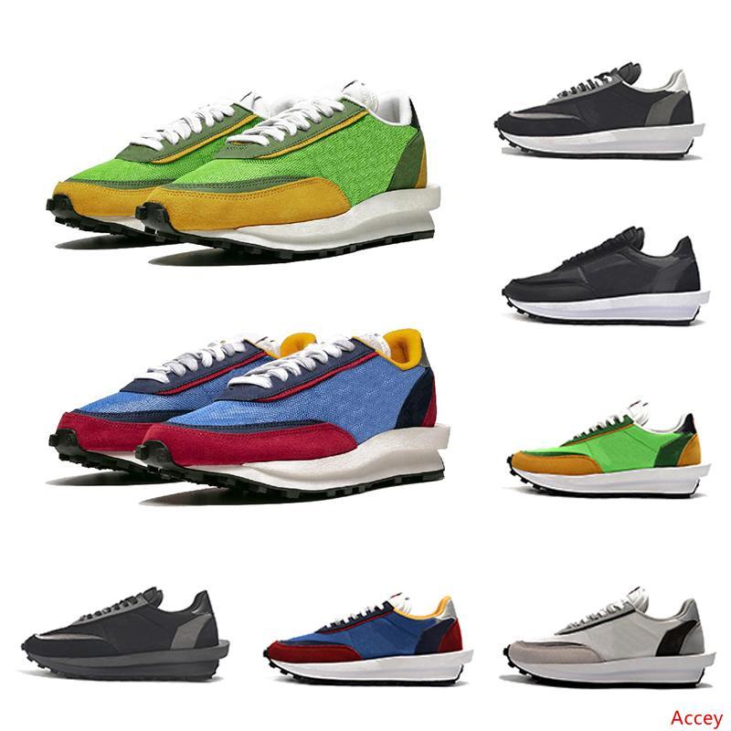 2019 Sacai LDV X вафельный Daybreak Кроссовки мужские Повседневная обувь Green Gusto Pine Green Wolf Gray Для женщин мужчины на открытом воздухе Спортивные кроссовки 36-45