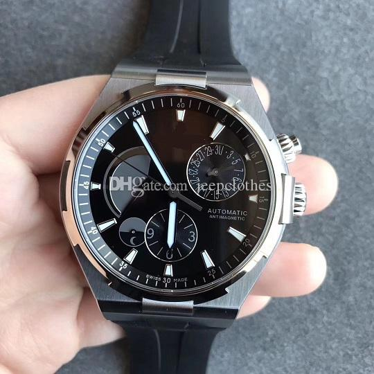 44mm 47450/B01A-9226 Dual Time Power Reserve Stainless Steel TWA A1222 automatic men watch sapphire crystal wristwatch waterproof.