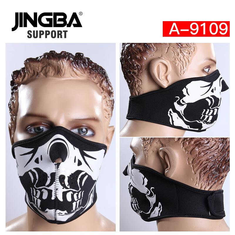 JINGBA DESTEK Yeni Cadılar Bayramı Kafatası Serin maske Açık spor yarım yüz maskesi sürme bisiklet kayak Üreticisi Dropshipping