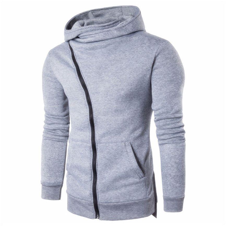 Autumn Fashion Casual Solid Felpe degli uomini / donne Polluver Felpa con cappuccio da uomo con cappuccio Pullover Zipper Camicia Plus Size
