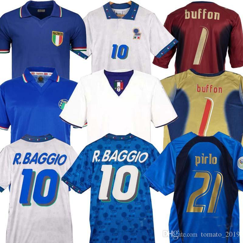 Dünya kupası Retro İTALYA 1990 2000 ANA FUTBOL FUTBOL 1994 JERSEY Maldini Baggio Donadoni Schillaci Totti Del Piero 2006 Pirlo Inzaghi buffon