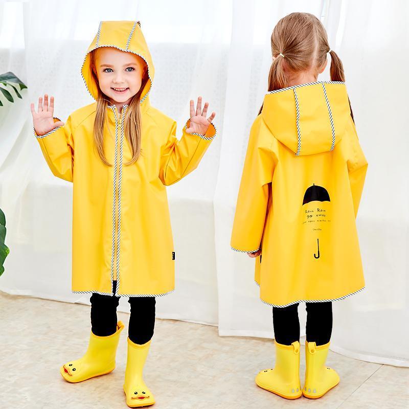 Cute Little impermeabile Raincoat cappotto di pioggia Kids Outdoor Boy Pioggia Giacca leggera indumenti impermeabili bambino antivento Ragazze Poncho Oo50Yy pFxWz