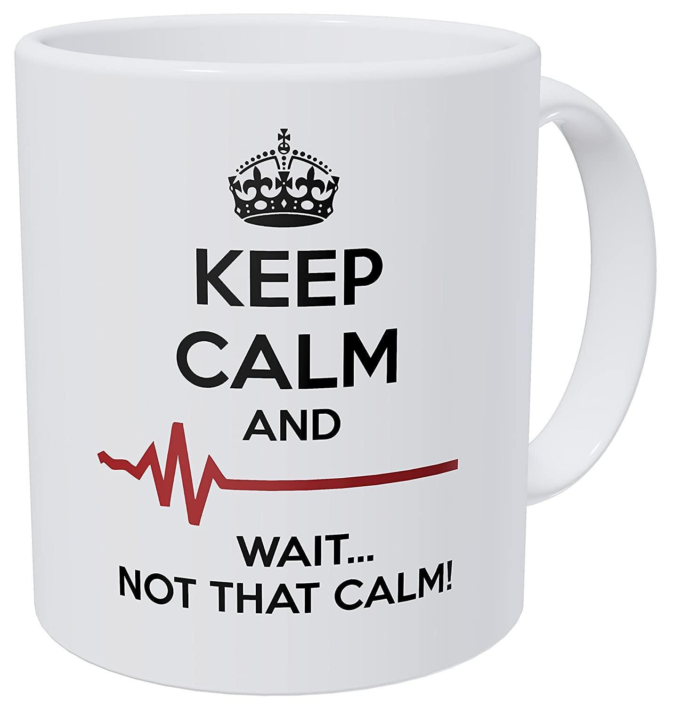 Wampumtuk doutor, medicina, Mantenha a calma e esperar Não que a calma 11 onças presentes de casamento caneca de café engraçada Dropshipping