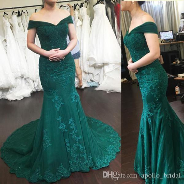 Elegant Sexy Lace Prom Dresses Mermaid Off Shoulder Beaded Evening Gowns Backless Applique Formal Party Gowns Robe De Mariee Custom