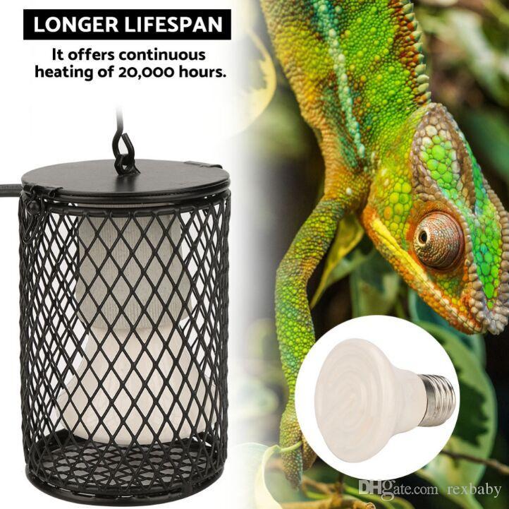ПЭТ отопление лампы инфракрасный Керамический свет с клетке безопасности излучатель тепла лампы зоотоваров кур рептилий лампы 100 Вт 110-230 в