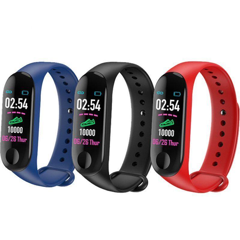 2019 M3 Bluetooth Smart İzle Nabız Tansiyon Aleti Spor Tracker Spor Bilezik