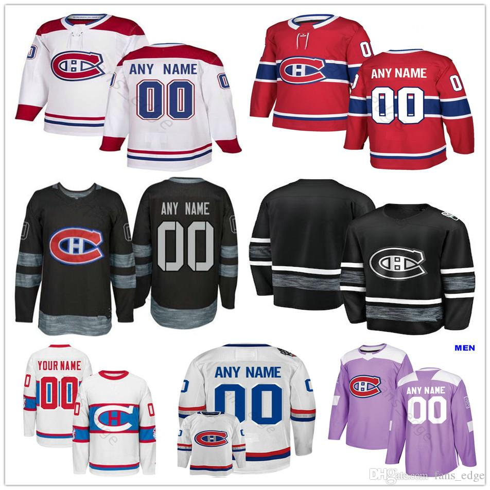 사용자 정의 몬트리올 Canadiens # 28 마이크 라일리 20 니콜라스 Deslauriers 76 경찰. Subban 92 Jonathan Drouin 남성 여성 키즈 청소년 하키 유니폼