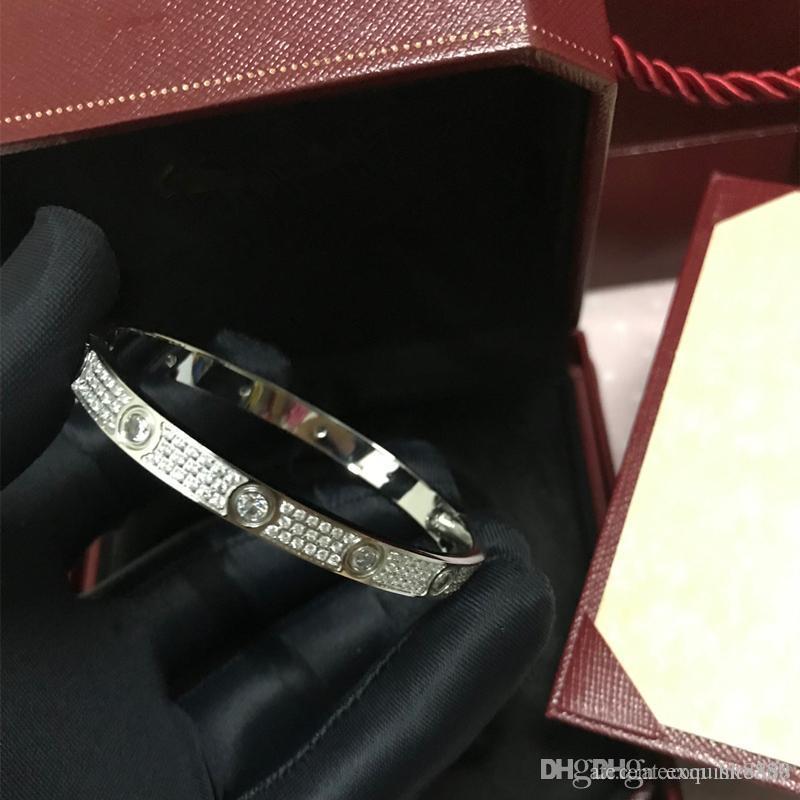 New Love Bracelets Volldiamantstern Armbänder Liebe Bracelets Frauen Männer Schraubendreher Armband Liebe Armreif mit Hochwertiger origina
