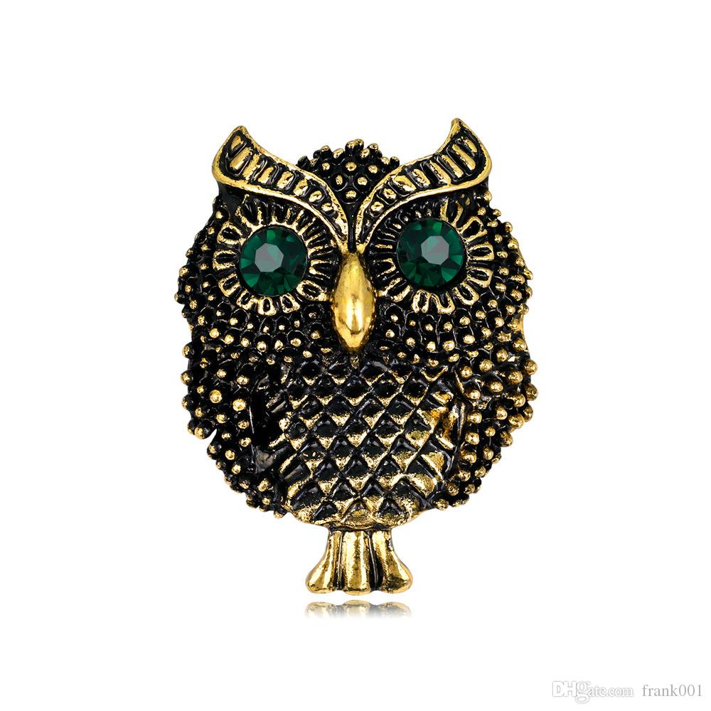 Large Bird Owls Vintage Brooches Antiques Bouquet Owle Pin Up Designer Wedded Broach Scarf Clips Jewellerys
