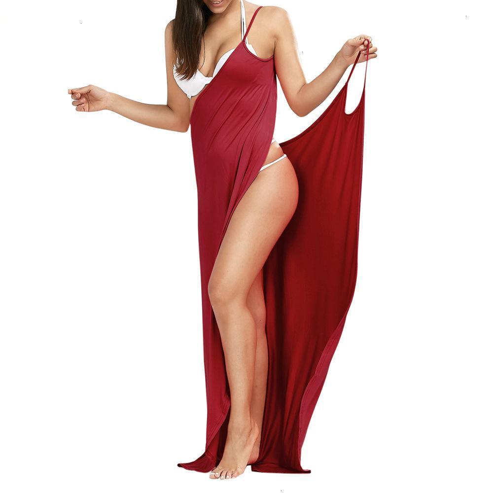 Women Dresses Long Dress Plus Large Size 5Xl Loose Sexy Party Beach Boho Maxi Slip Dress 2019 Summer Spaghetti Strap Women Dress